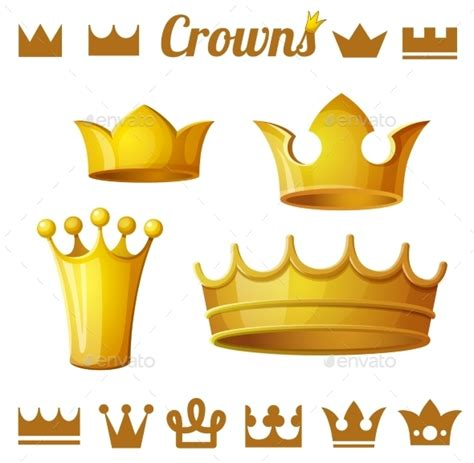 sofá show cristo rei set 2 of royal gold crowns by annzabella graphicriver