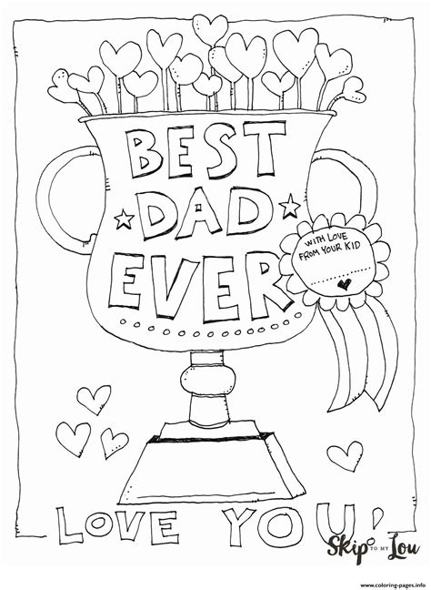 dad  love  fathers day coloring pages printable
