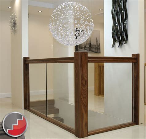 Glass Banisters by Walnut Staircases Black Walnut X Vision Staircase