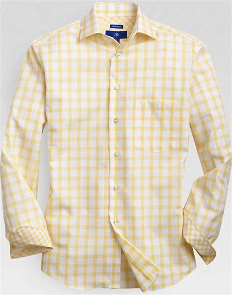 Egara Yellow Windowpane Plaid Sport Shirt - Sport Shirts ...