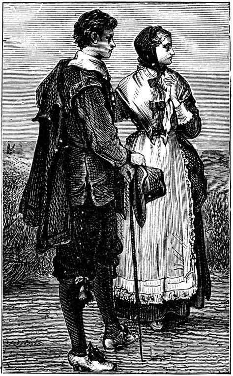 puritan costumes clipart