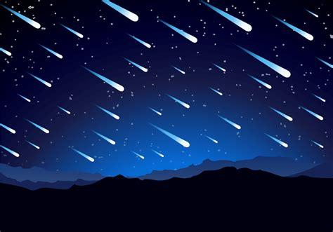meteor shower background  vector