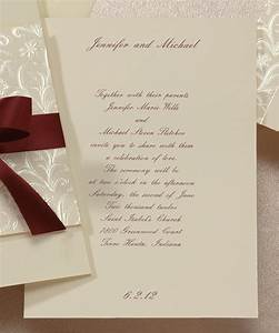29 best images about red burgundy wedding invitations on With wedding invitations with burgundy ribbon