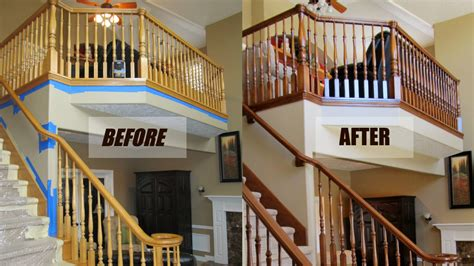 Refinish Banister Railing by Services Woodworks Refurbishing