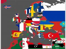 Flag Vexillographical Map of Europe & North Africa