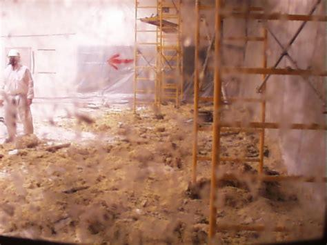 asbestos ceiling material  enclosure  camera