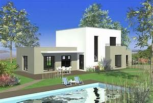fabuleux idee maison photo maison moderne toit plat jpg With idee maison a construire