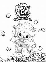 Llama Coloring Poppy Sprinkles Pages Printable Sprinkle Pikmi Pops Pyjamas Fun sketch template