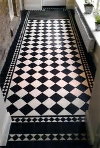 black white tiled floor hallway pinterest black
