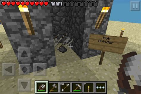 minecraft pe survival mob grinder minecraft pinterest