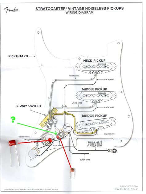 Schematic Of A Fender Stratocaster Wiring Diagram by Fender Noiseless Wiring Diagram Gallery
