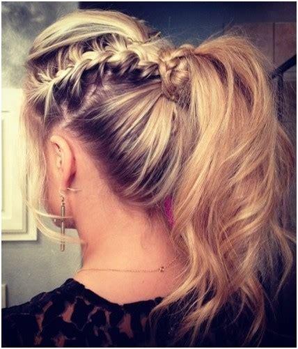 messy braid ponytail hairstyles trends cute hair styles
