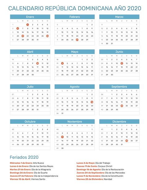 calendario de republica dominicana ano feriados