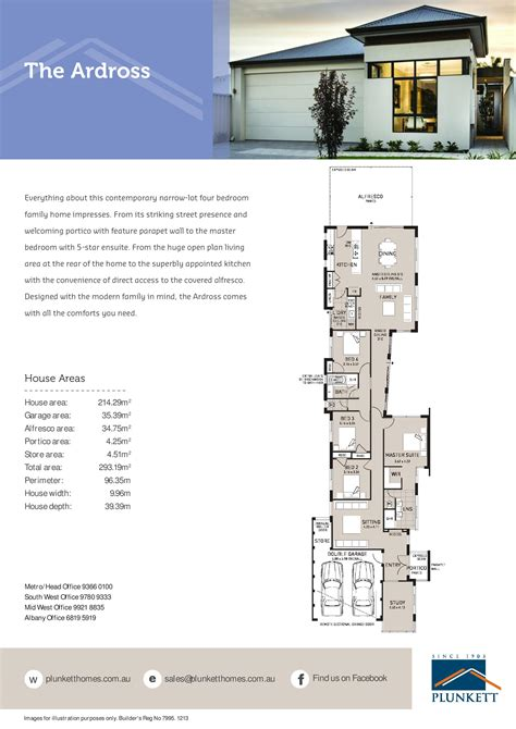 narrow home plans narrow lot house plans single storey narrow lot homes small lot homes perth wa