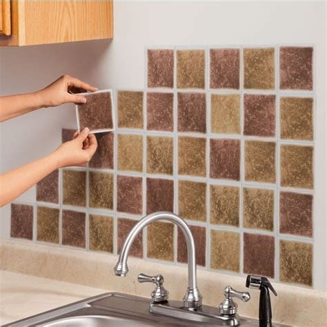 kitchen stick on tiles new set of 27 self adhesive wall tiles brick or sand 6132