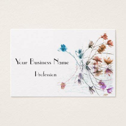 magnolia business card floral style flower flowers
