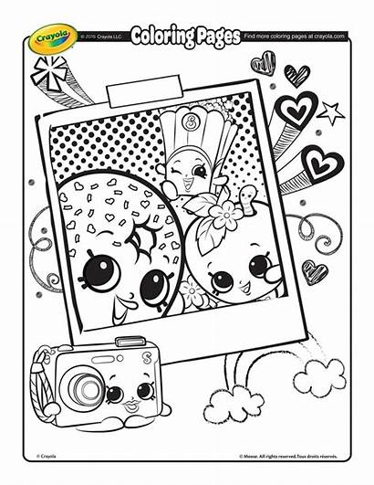 Shopkins Coloring Pages Selfie Crayola Printable Sheets