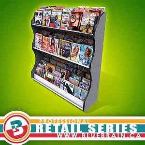 magazine retail display rack 3d max