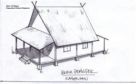 paguyuban pakuan pajajaran model rumah adat sunda