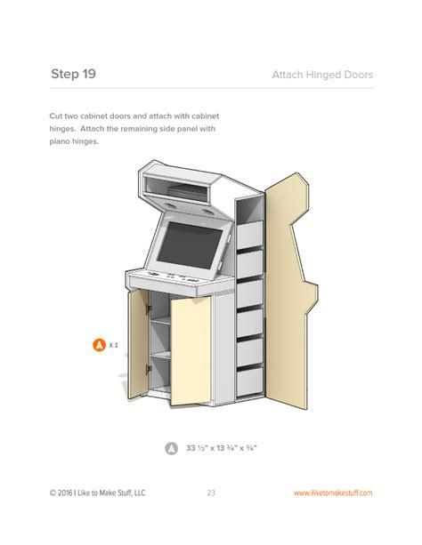 Bartop Arcade Cabinet Plans Pdf by Arcade Cabinet Digital Plan Misc Diy Arcade Cabinet