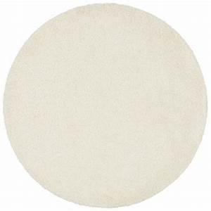 tapis rond uni a fibres hautes my home beige my home With tapis rond beige