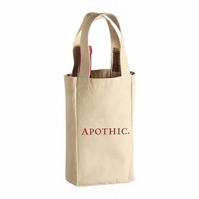 Tote Cotton Canvas Wine Bottle Heavy Bag