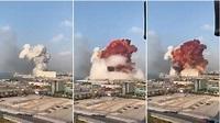 黎巴嫩首都大爆炸!橘紅火球竄天際 全市震動滿地屍體│TVBS新聞網