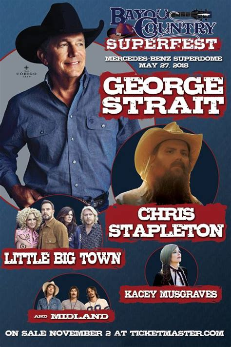 country fan fest 2017 lineup george strait chris stapleton more slated for bayou