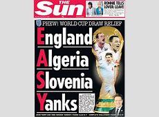 England's Possible World Cup Group Of Death Scenario