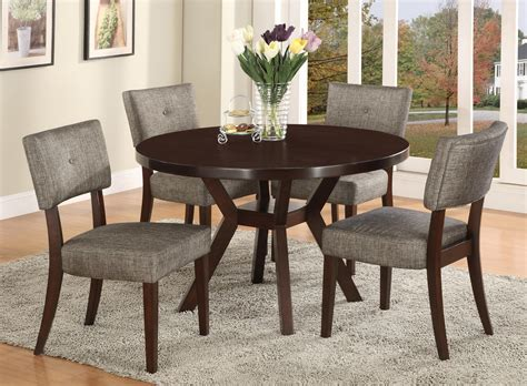 5 piece table set crown mark kayla 5 piece dining table and chair set dunk