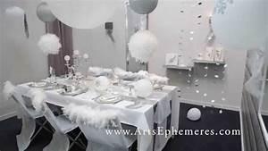 Decoration De Noel Table : d coration de table de noel argent et blanche youtube ~ Melissatoandfro.com Idées de Décoration