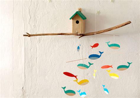 mobile aus bunten fischen zum selbermachen himbeer magazin