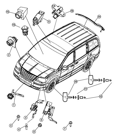 2006 Chrysler Town And Country Parts by 2008 Chrysler Town And Country Parts Diagram Automotive