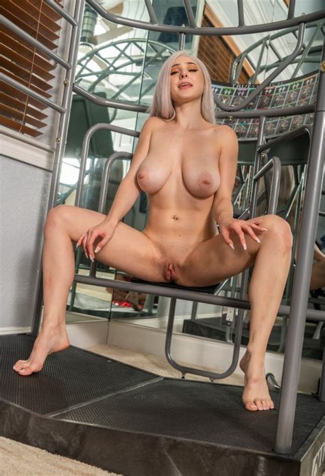 Skylar Vox Thefappening Nude Big Boobs In The Gym 49