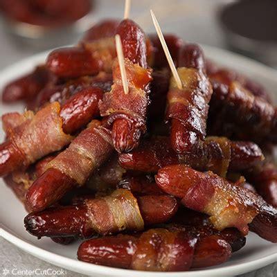 smokies wrapped in bacon bacon wrapped smokies recipe dishmaps