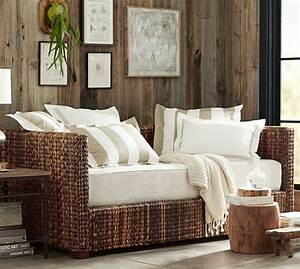 seagrass daybed with trundle pottery barn With day beds pottery barn