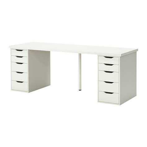 pieds bureau ikea linnmon alex table blanc ikea