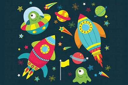 Space Clipart Outer Illustrations Templates Graphics Outerspace