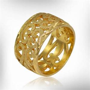 14k gold wedding band gold lace ring vintage style gold for Wedding gold rings for women