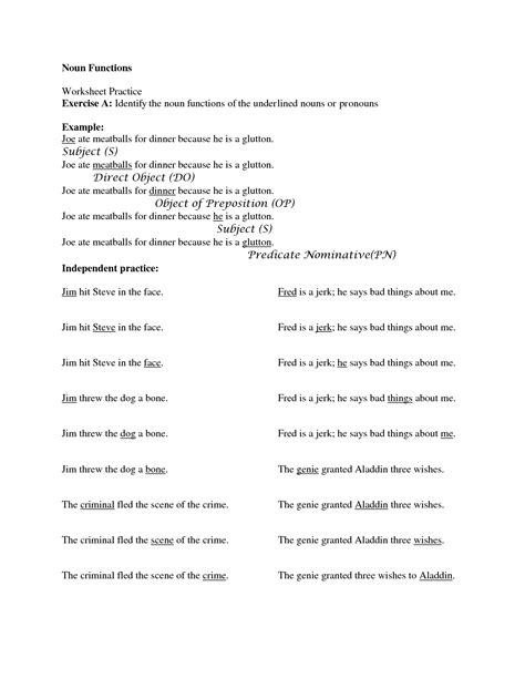 18 Best Images Of Predicate Nominative Practice Worksheet  Subject And Predicate Worksheets 3rd