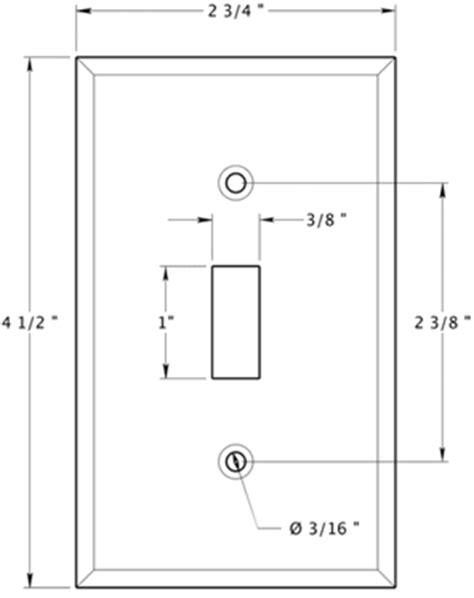 single light switch plate deltana swp4751 doorware