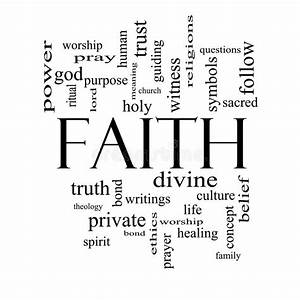 Faith Word Cloud Concept In Black And White Royalty Free ...