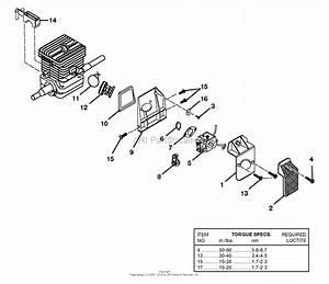 Homelite 540 Chain Saw Ut-10550 Parts Diagram For Carburetor