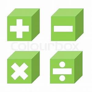Math symbols of addition, subtraction, multiplication and ...