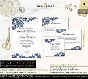 wedding invitation navy blue and lace wedding invitation With free printable navy blue wedding invitations