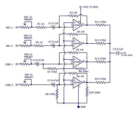 Multi Channel Audio Mixer Wiring Diagram