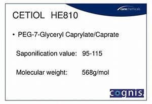 Ppt - Cetiol He  He810 Peg Glyceryl Ester Powerpoint Presentation  Free Download