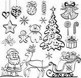 Christmas Silhouettes Coloring Tree Patterns Pages Adult Element Silhouette Reindeer Pattern Collage Elements Graphicriver Holiday Santa Adults Cartoon Contour Seamless sketch template