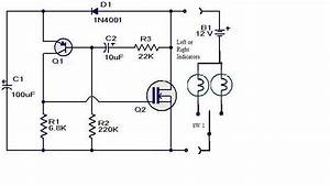 transistors electronic flasher with low load detection With 12v relay circuit board