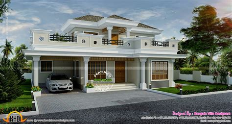Kerala Exterior Model Homes September Home Design Floor